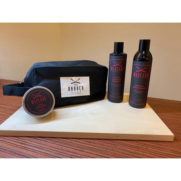Cofanetto shampoo, fluido modellante, pasta modellante